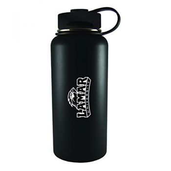 Lamar University-32 oz. Travel Tumbler-Black