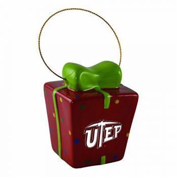 The University of Texas at El Paso-3D Ceramic Gift Box Ornament