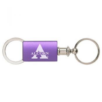 Alcorn State University - Anodized Aluminum Valet Key Tag - Purple