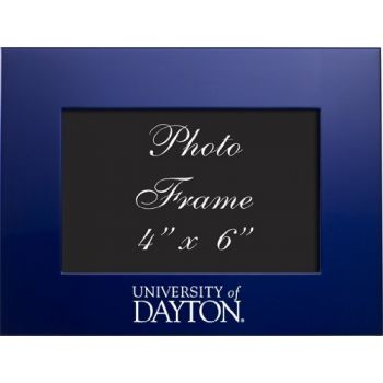 University of Dayton - 4x6 Brushed Metal Picture Frame - Blue