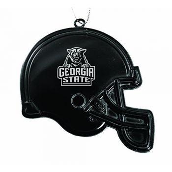 Georgia State University - Christmas Holiday Football Helmet Ornament - Black