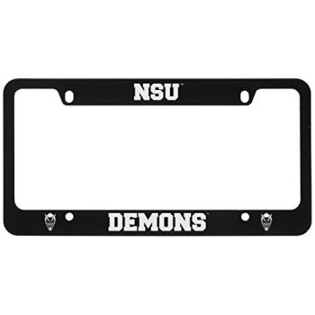 Northwestern State University -Metal License Plate Frame-Black