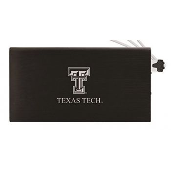 8000 mAh Portable Cell Phone Charger-Texas Tech University -Black