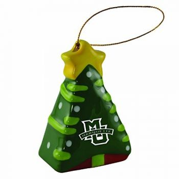 Marquette University-Christmas Tree Ornament