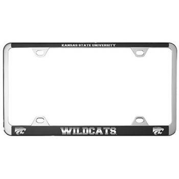 Kansas State University -Metal License Plate Frame-Black