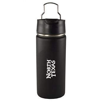 University of North Texas-20 oz. Travel Tumbler-Black