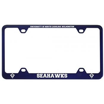 University of North Carolina Wilmington -Metal License Plate Frame-Blue