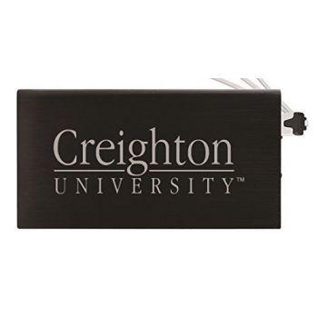 8000 mAh Portable Cell Phone Charger-Creighton University -Black
