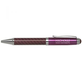 Nicholls State University -Carbon Fiber Mechanical Pencil-Pink