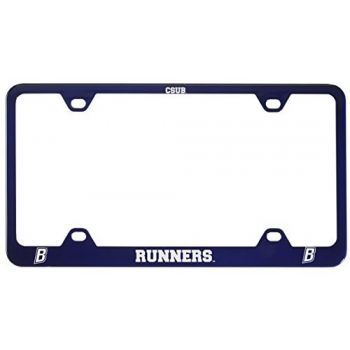 California State University, Bakersfield-Metal License Plate Frame-Blue