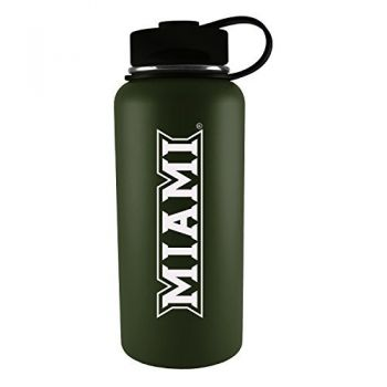 Miami University -32 oz. Travel Tumbler-Gun Metal