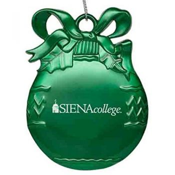 Siena College - Pewter Christmas Tree Ornament - Green
