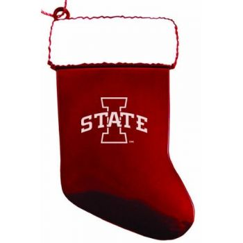 Iowa State University - Chirstmas Holiday Stocking Ornament - Red