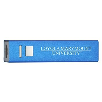Loyola Marymount University - Portable Cell Phone 2600 mAh Power Bank Charger - Blue