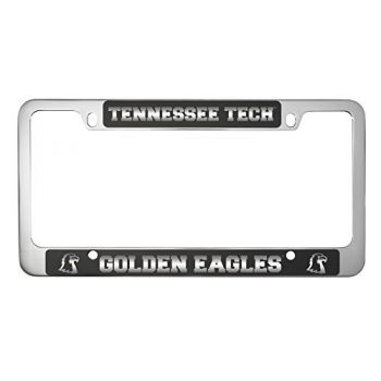 Tennessee Technological University -Metal License Plate Frame-Black