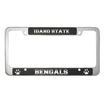 Idaho State University -Metal License Plate Frame-Black