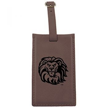 Loyola Marymount University -Leatherette Luggage Tag-Brown
