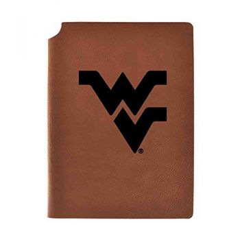West Virginia University Velour Journal with Pen Holder|Carbon Etched|Officially Licensed Collegiate Journal|