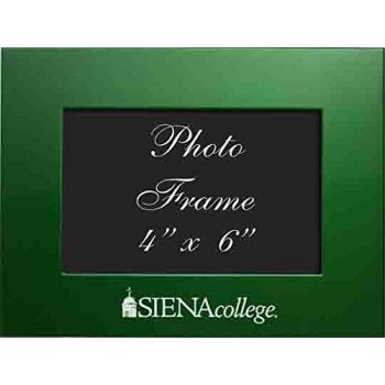 Siena College - 4x6 Brushed Metal Picture Frame - Green