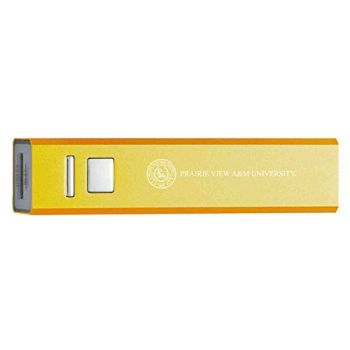 Prairie View A&M University - Portable Cell Phone 2600 mAh Power Bank Charger - Gold