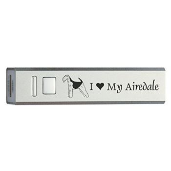 Quick Charge Portable Power Bank 2600 mAh  - I Love My Airedale