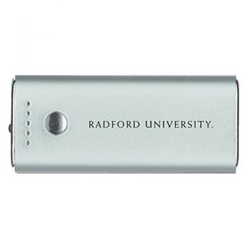 Radford University -Portable Cell Phone 5200 mAh Power Bank Charger -Silver