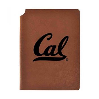 University of California Berkeley Velour Journal with Pen Holder|Carbon Etched|Officially Licensed Collegiate Journal|