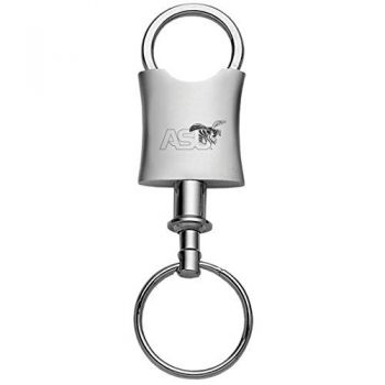 Alabama State University-Trillium Valet Key Tag-Silver
