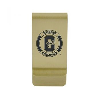 College of Charleston Money Clip with Contemporary Metals Finish Solid Brass High Tension Clip to Securely Hold Cash, Cards and ID's Silver