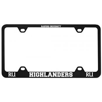 Radford University -Metal License Plate Frame-Black