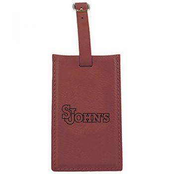 St. John's University -Leatherette Luggage Tag-Burgundy