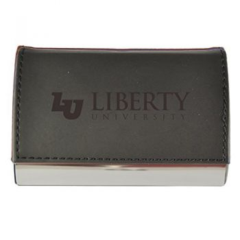 Velour Business Cardholder-Liberty University-Black