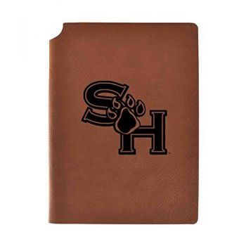 Sam Houston State University Velour Journal with Pen Holder|Carbon Etched|Officially Licensed Collegiate Journal|