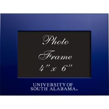 University of South Alabama - 4x6 Brushed Metal Picture Frame - Blue