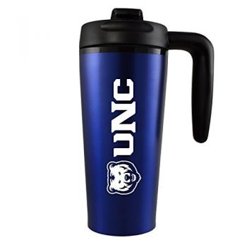 University of Northern Colorado -16 oz. Travel Mug Tumbler with Handle-Blue