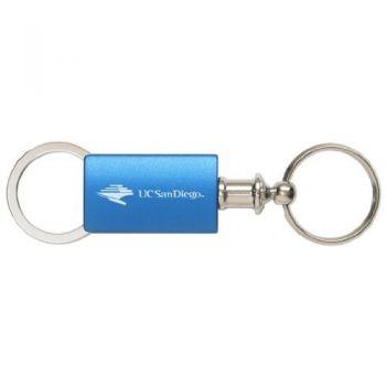 University of San Diego - Anodized Aluminum Valet Key Tag - Blue