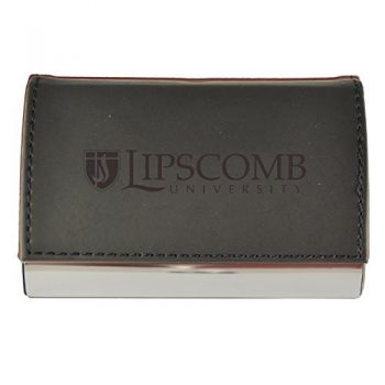 Velour Business Cardholder-Lipscomb University-Black