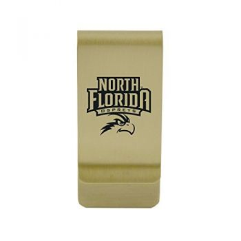 The University of New Mexico|Money Clip with Contemporary Metals Finish|Solid Brass|High Tension Clip to Securely Hold Cash, Cards and ID's|Silver