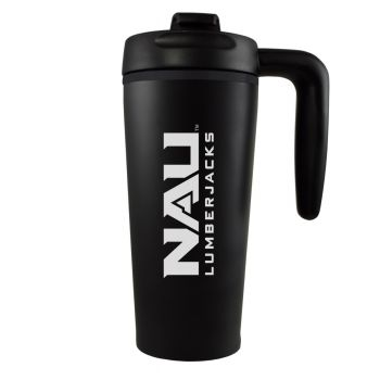 Northern Arizona University -16 oz. Travel Mug Tumbler with Handle-Black
