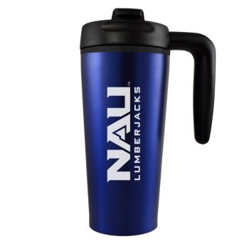 Northern Arizona University -16 oz. Travel Mug Tumbler with Handle-Blue