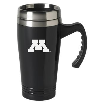 University of Minnesota-16 oz. Stainless Steel Mug-Black