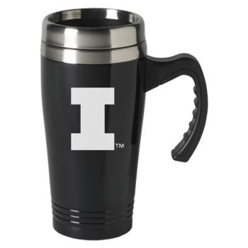 University of Illinois-16 oz. Stainless Steel Mug-Black