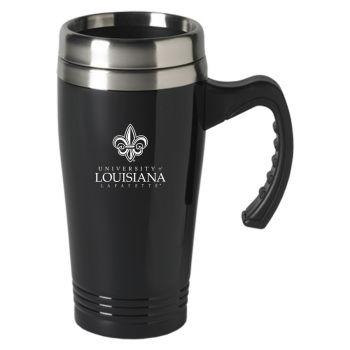 University of Louisiana at Lafayette-16 oz. Stainless Steel Mug-Black