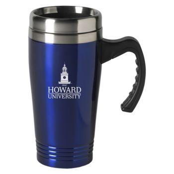 Howard University-16 oz. Stainless Steel Mug-Blue