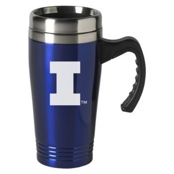 University of Illinois-16 oz. Stainless Steel Mug-Blue