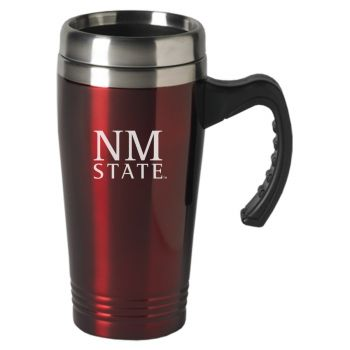 New Mexico State-16 oz. Stainless Steel Mug-Burgundy