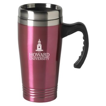 Howard University-16 oz. Stainless Steel Mug-Pink