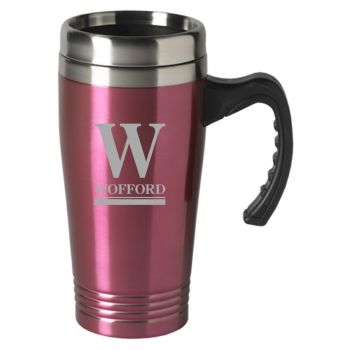 University of Nebraska-16 oz. Stainless Steel Mug-Pink