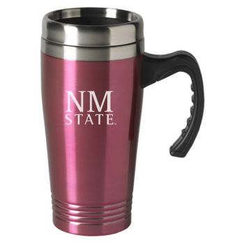 New Mexico State-16 oz. Stainless Steel Mug-Pink