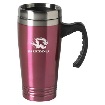 University of Missouri-16 oz. Stainless Steel Mug-Pink